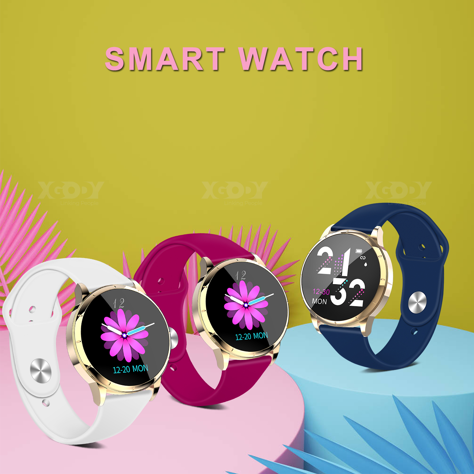 XGODY Watrerproof Smart Watch Sleep Monitor PPG Fitness Trac