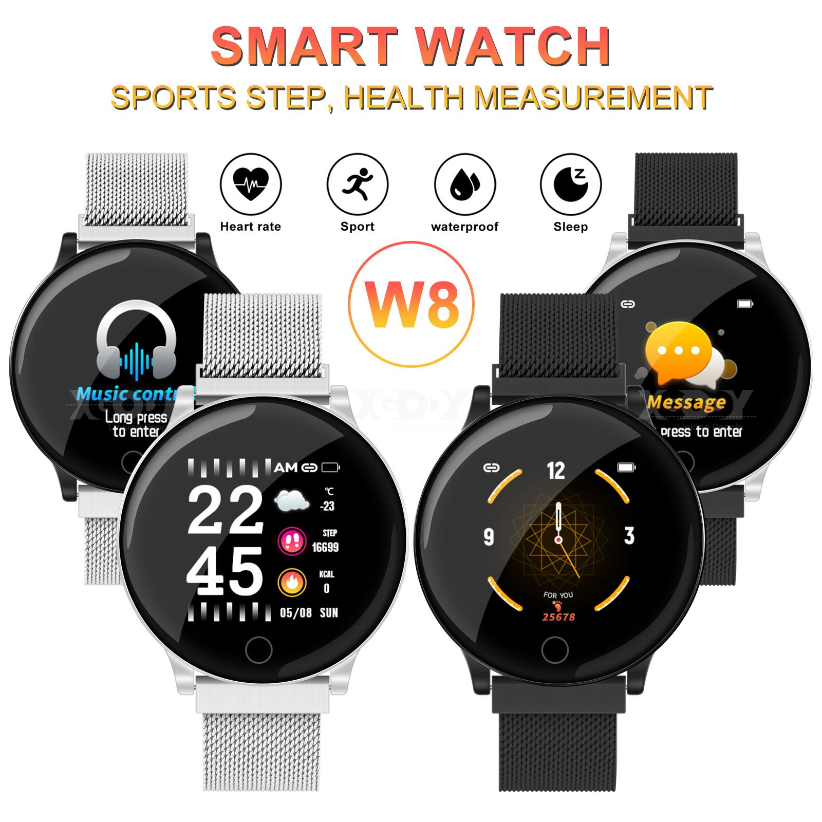 XGODY Fitness Tracker Smart Watch Heart Rate Monitor Blood Pressure Wristband W8 blood fitness heart monitor pressure rate smart tracker watch xgody