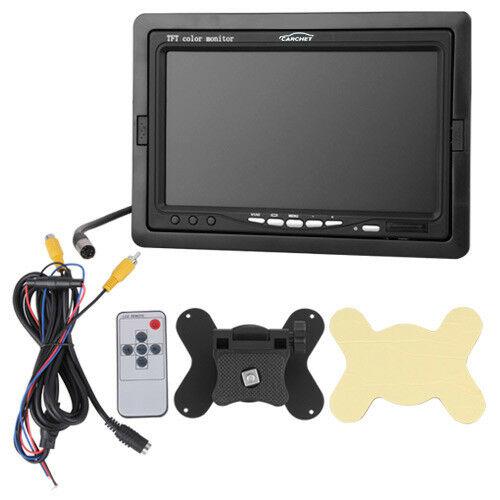 Carchet-17-8cm-TFT-LCD-Monitor-Auto-DVD-Tvcc-Vista-Posteriore-Inversa-Camera miniatura 4