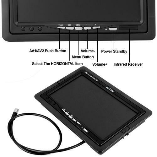 Carchet-17-8cm-TFT-LCD-Monitor-Auto-DVD-Tvcc-Vista-Posteriore-Inversa-Camera miniatura 6