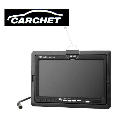 Carchet-17-8cm-TFT-LCD-Monitor-Auto-DVD-Tvcc-Vista-Posteriore-Inversa-Camera miniatura 7
