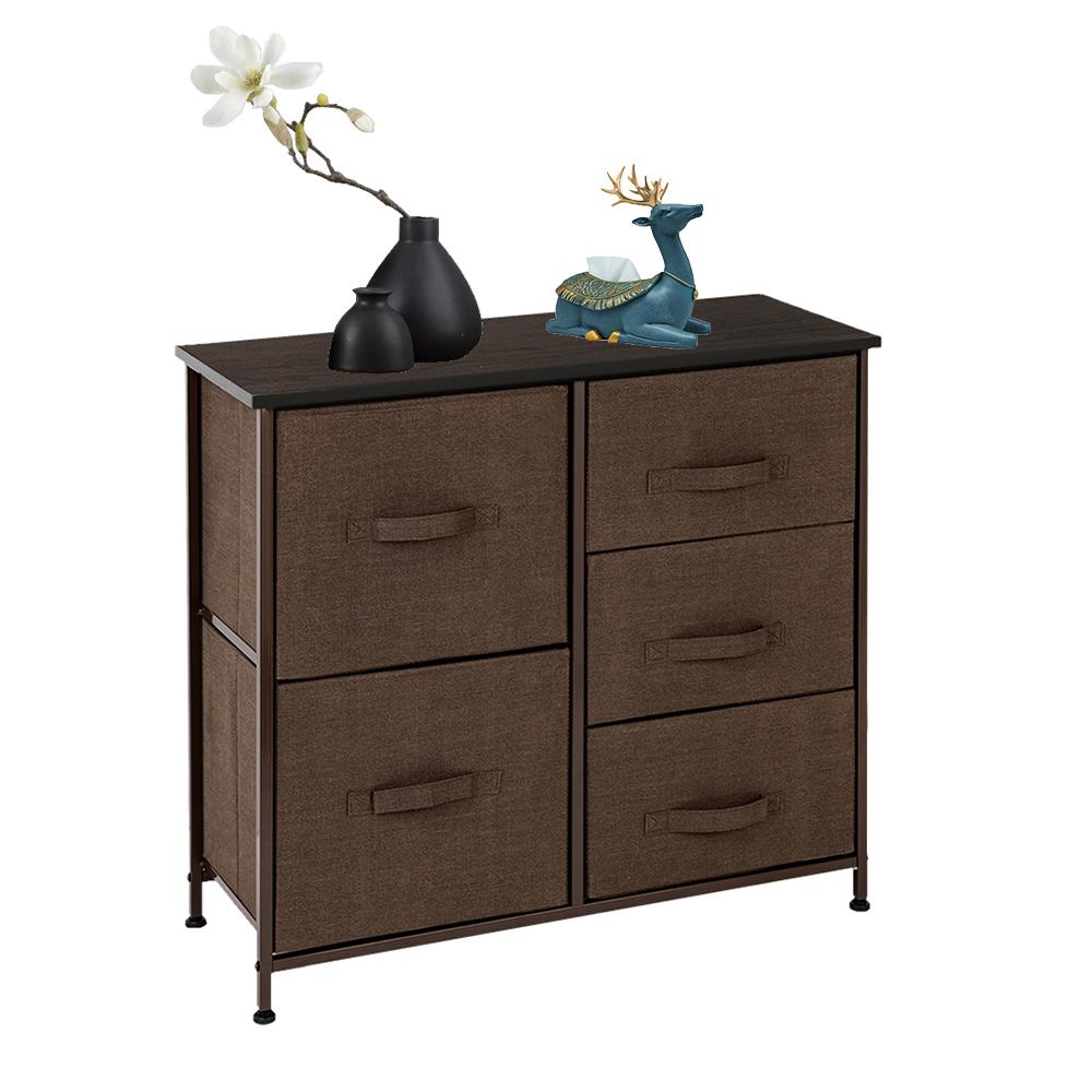 3-Layer-Drawer-Dresser-Storage-Unit-Shelf-Organizer-Bins-Chest-5-Fabric-Drawers miniature 20