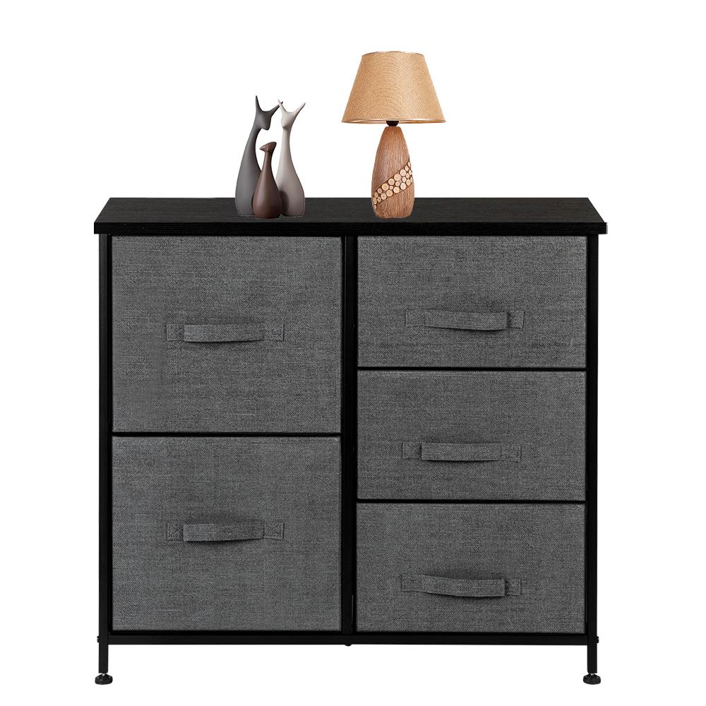 3-Layer-Drawer-Dresser-Storage-Unit-Shelf-Organizer-Bins-Chest-5-Fabric-Drawers miniature 29