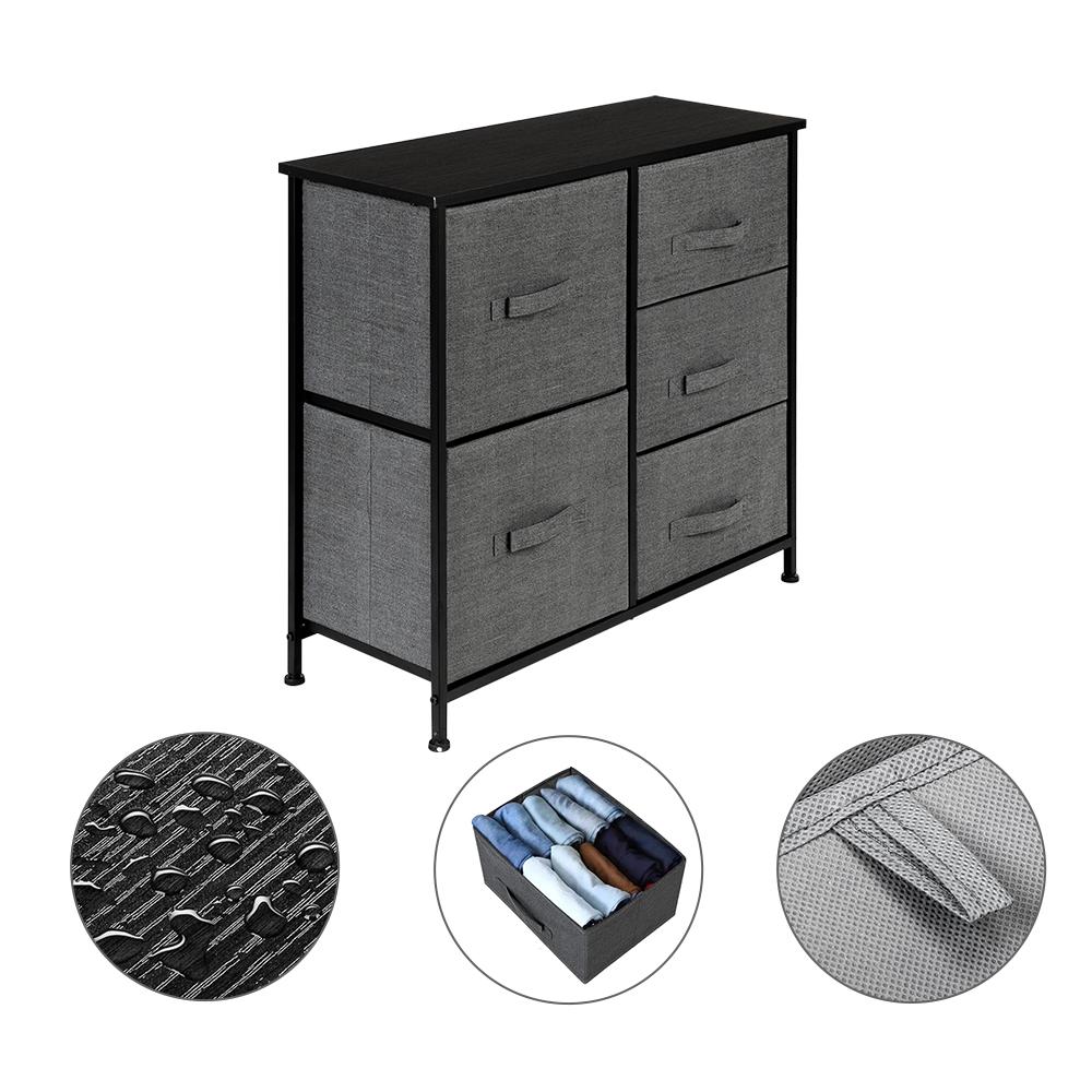 3-Layer-Drawer-Dresser-Storage-Unit-Shelf-Organizer-Bins-Chest-5-Fabric-Drawers miniature 31