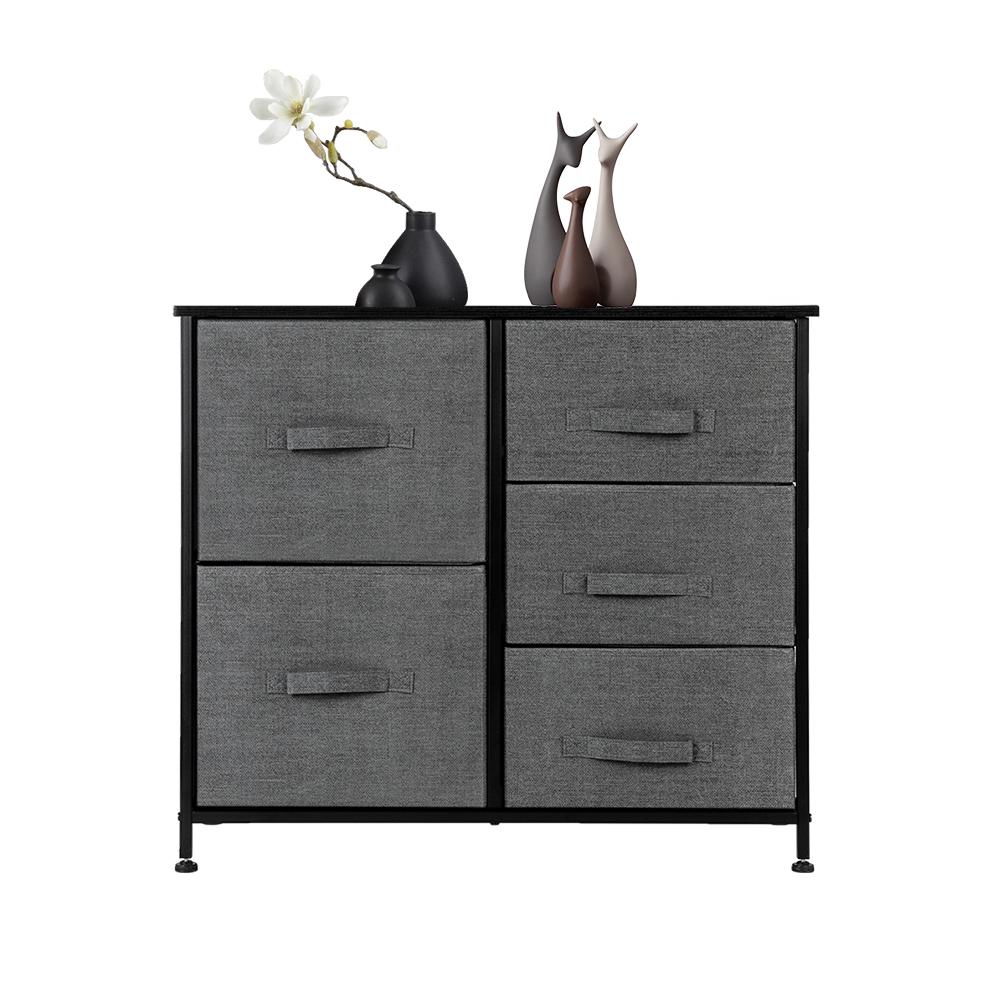 3-Layer-Drawer-Dresser-Storage-Unit-Shelf-Organizer-Bins-Chest-5-Fabric-Drawers miniature 33