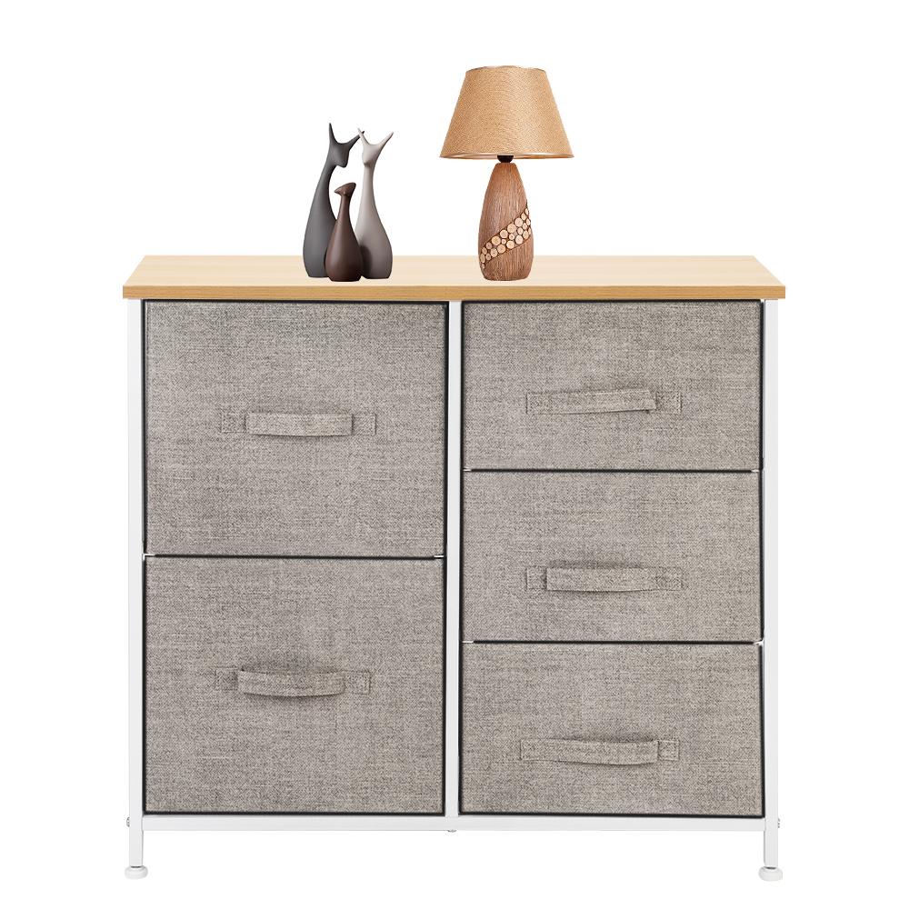 3-Layer-Drawer-Dresser-Storage-Unit-Shelf-Organizer-Bins-Chest-5-Fabric-Drawers miniature 39