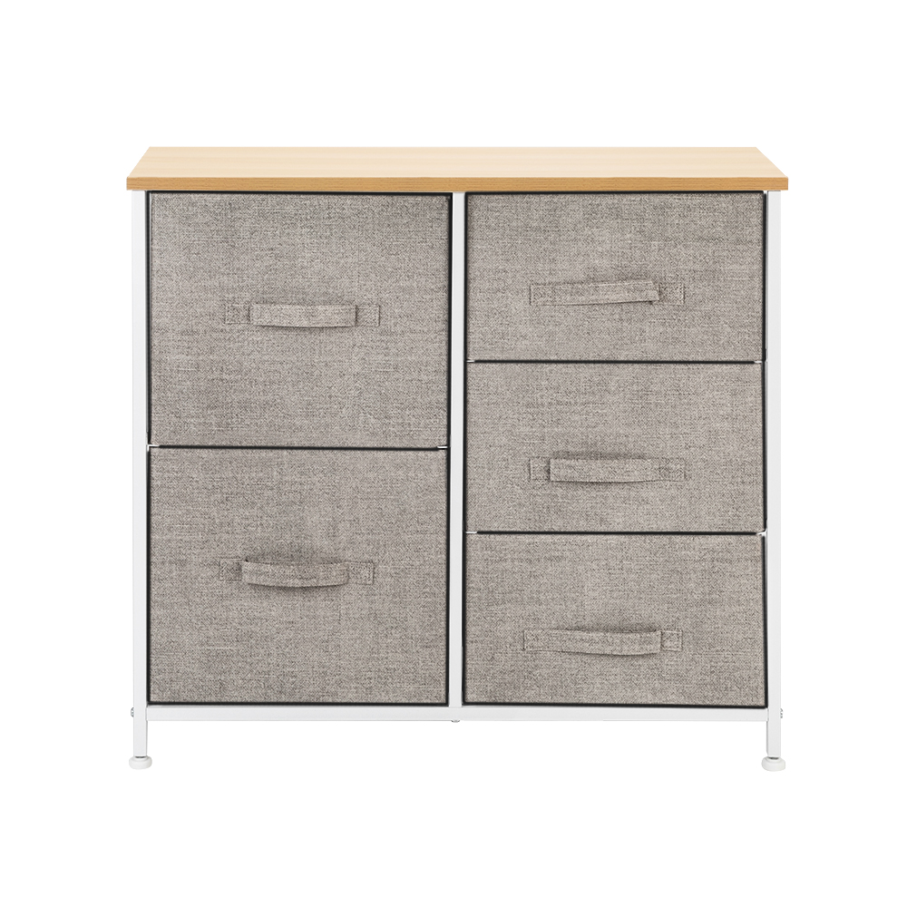 3-Layer-Drawer-Dresser-Storage-Unit-Shelf-Organizer-Bins-Chest-5-Fabric-Drawers miniature 41