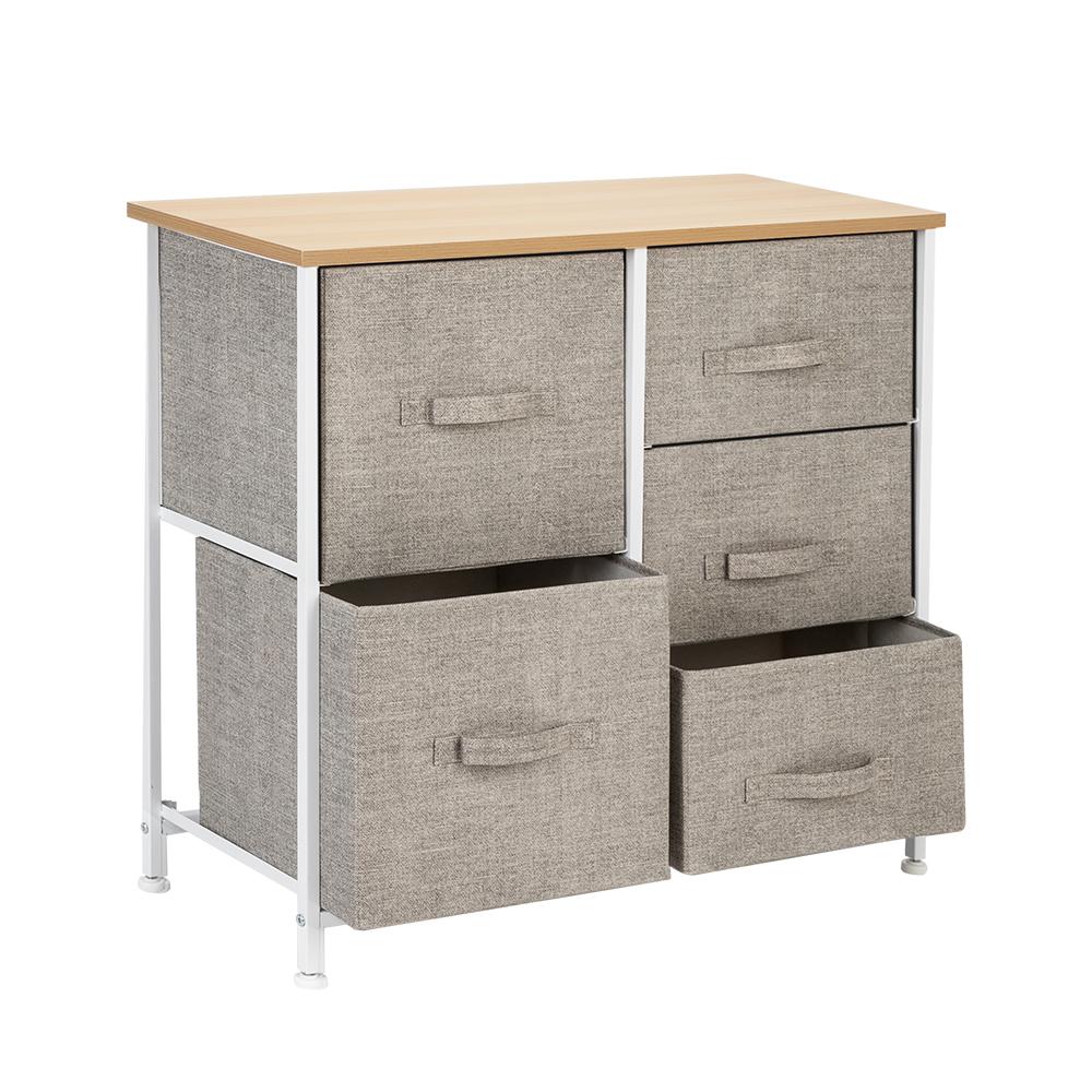 3-Layer-Drawer-Dresser-Storage-Unit-Shelf-Organizer-Bins-Chest-5-Fabric-Drawers miniature 42