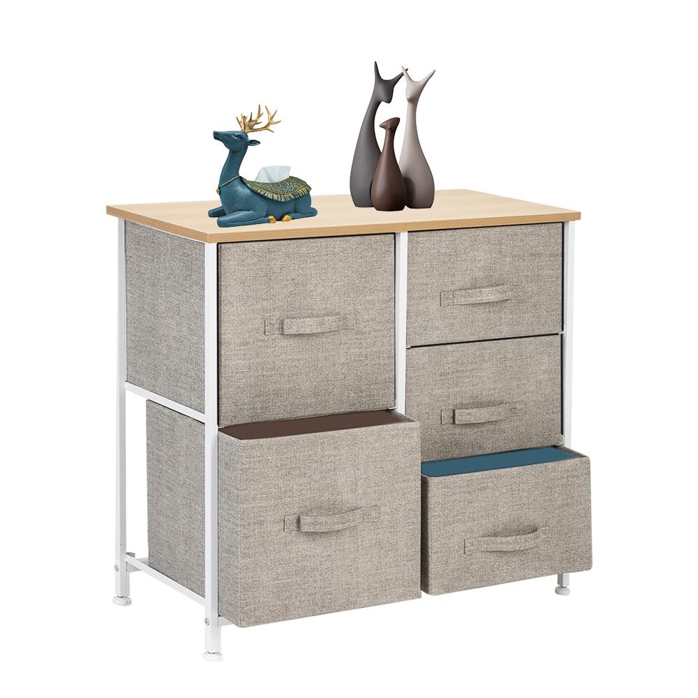 3-Layer-Drawer-Dresser-Storage-Unit-Shelf-Organizer-Bins-Chest-5-Fabric-Drawers miniature 44