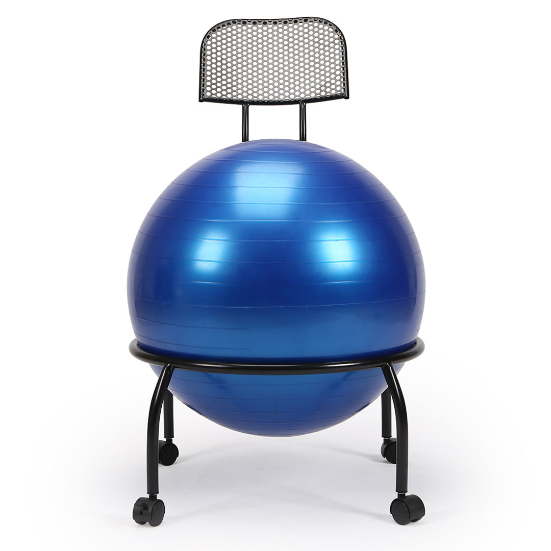 Balance Ball Stool: Yoga Ball Chair Balance Ball Chair With Back Support With