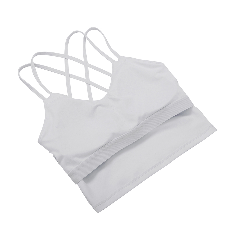 thumbnail 31 - Women Yoga Sports Bra Backless Fitness Crop Tops Cross Back Padded Casual Top LB