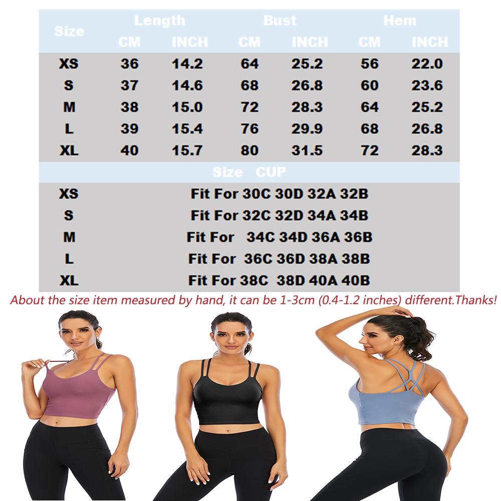 thumbnail 42 - Women Yoga Sports Bra Backless Fitness Crop Tops Cross Back Padded Casual Top LB