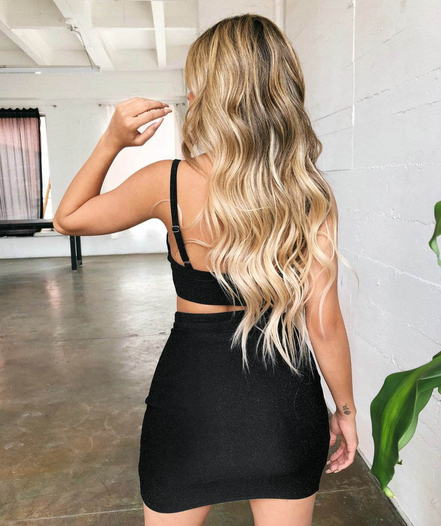 Sexy-2-Piece-Women-Bodycon-Two-Piece-Crop-Top-and-Skirt-Set-Bandage-Dress-Party thumbnail 10