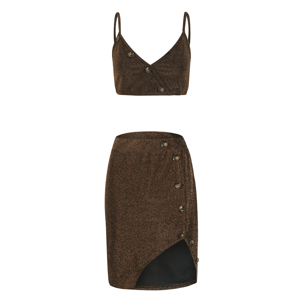 Sexy-2-Piece-Women-Bodycon-Two-Piece-Crop-Top-and-Skirt-Set-Bandage-Dress-Party thumbnail 16