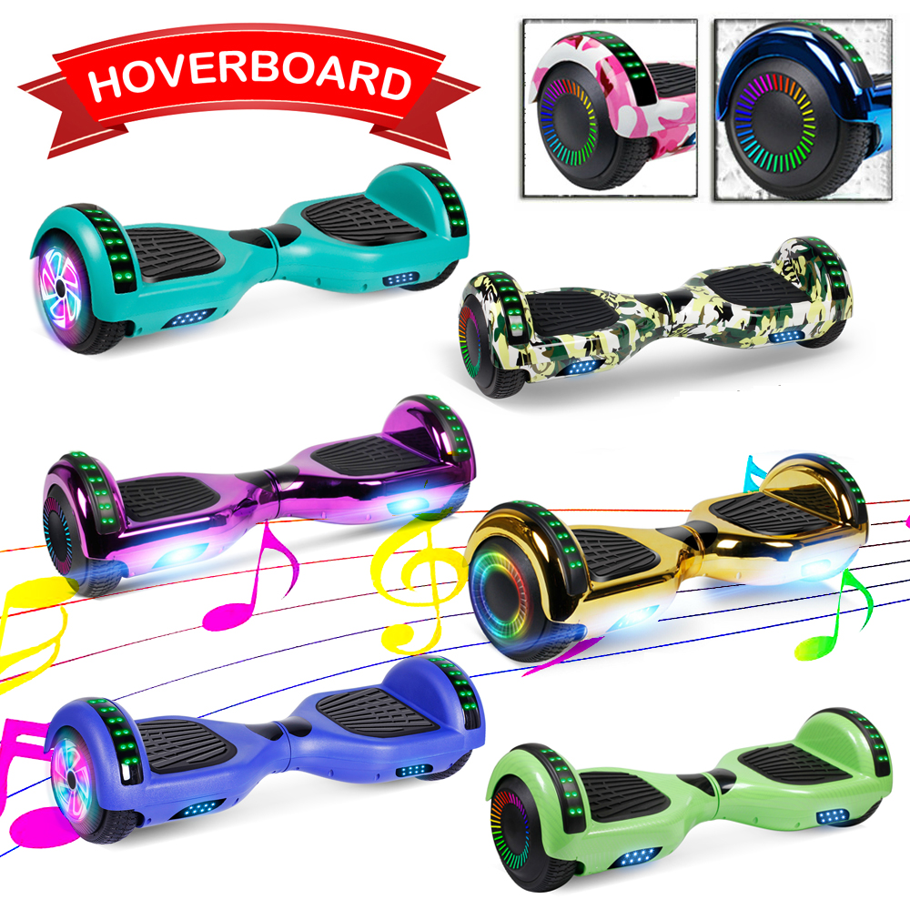 Electric 6.5'' Bluetooth Hoverboard Self Balance Scooter LED