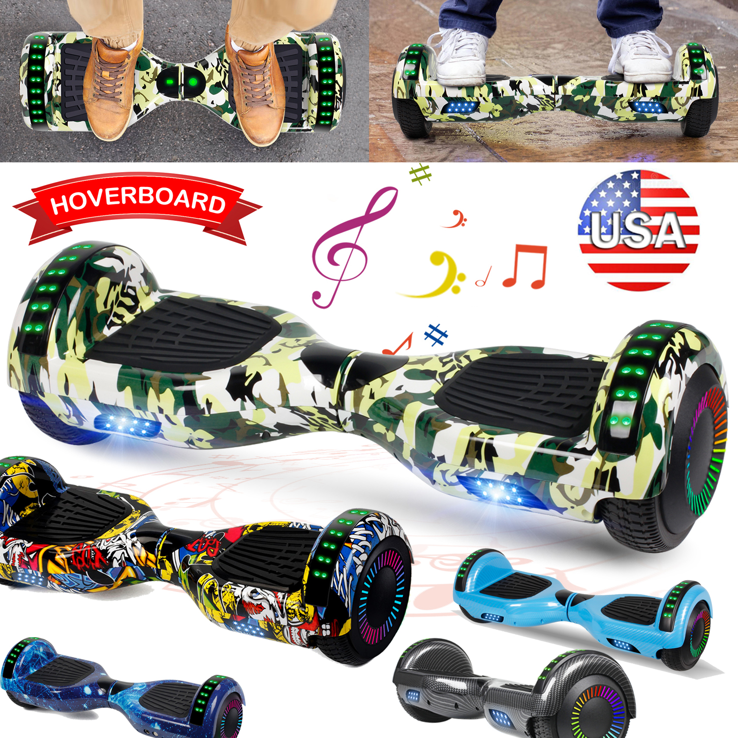 6.5'' Electric Bluetooth Hoverboard Self Balance Scooter Kid