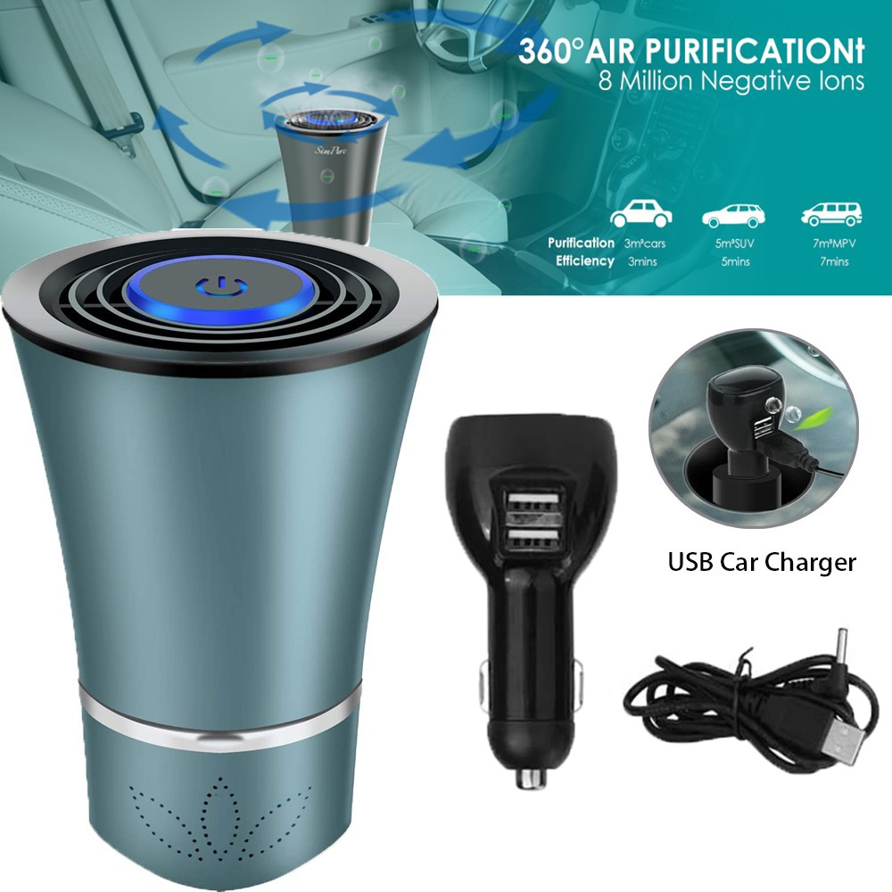 Xcessories Car//Home 5W Air Purifier//Cleaner Odour Remover w// HEPA Filter BLK
