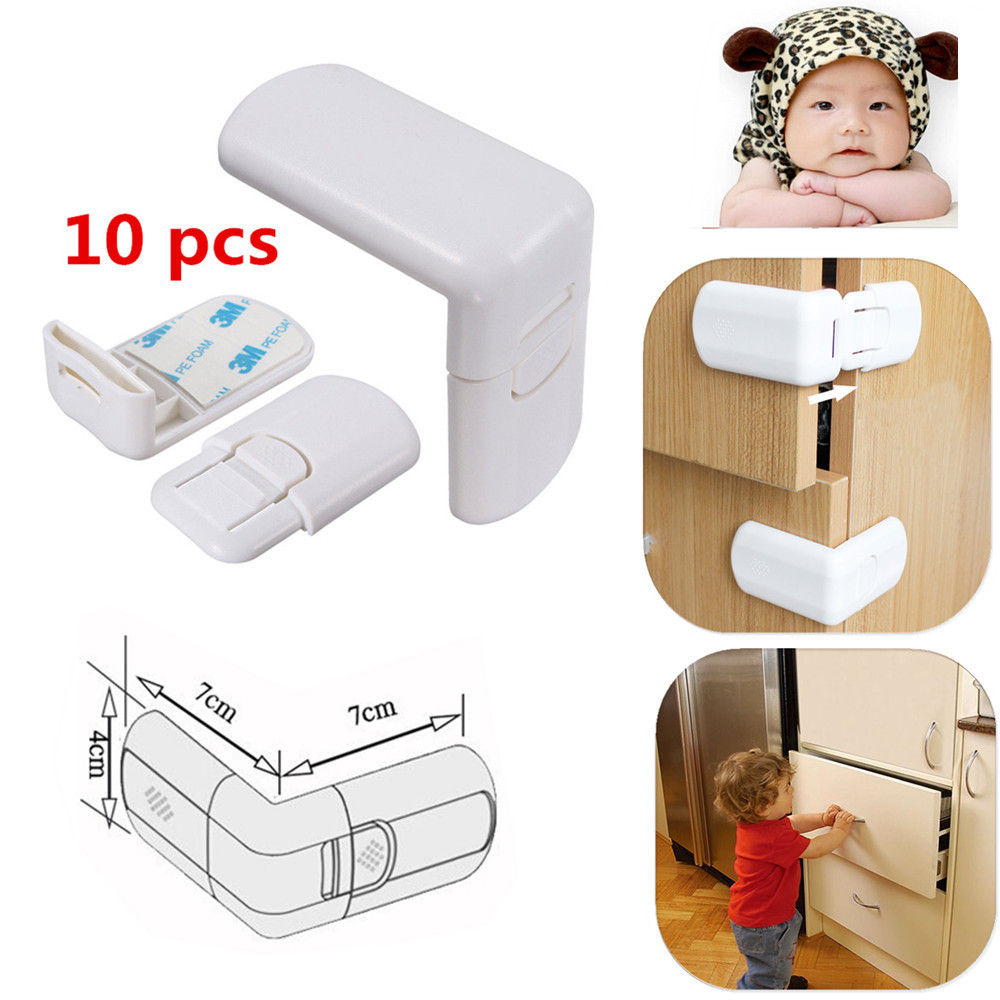 10 Pcs Infant Baby Kids Drawer Door Cabinet Cupboard Toddler Child Safety Locks