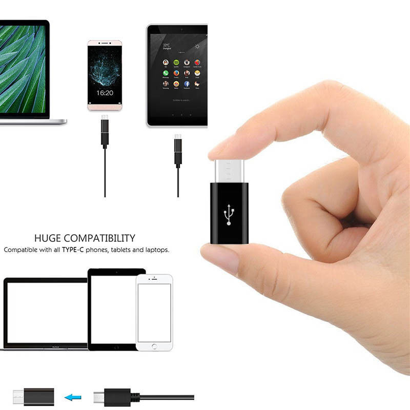 Micro-USB-Female-to-Type-C-Male-Adapter-Converter-Micro-B-to-USB-C-Connector-5X thumbnail 4