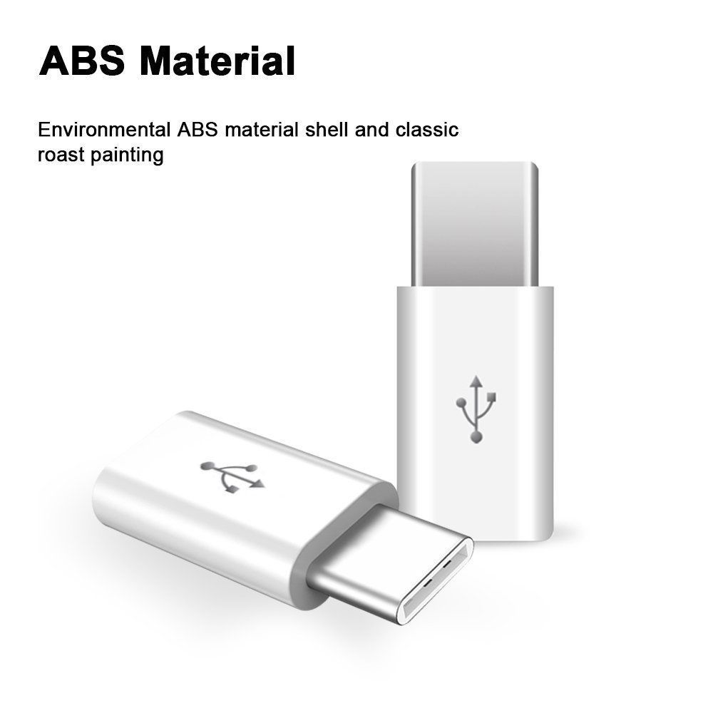 Micro-USB-Female-to-Type-C-Male-Adapter-Converter-Micro-B-to-USB-C-Connector-5X thumbnail 8
