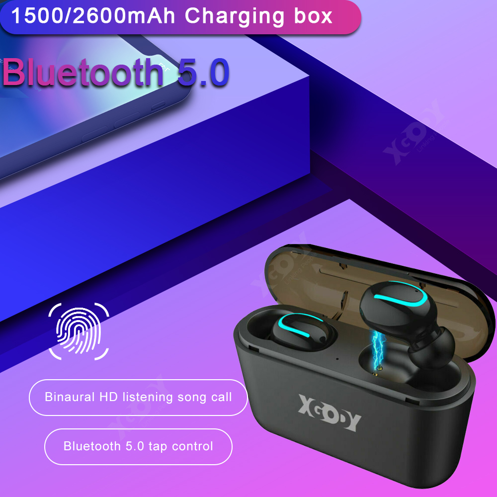 XGODY Q32 wireless bluetooth5.0 earphone for iphone stereo s