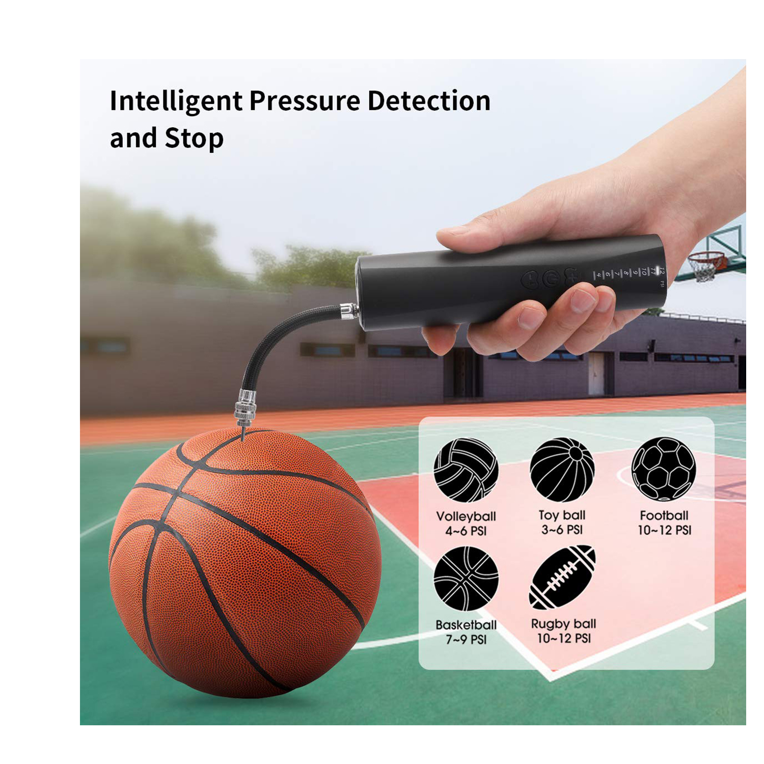 """12/"""" Hand Air Pump For Bicycle Basketball Volleyball Footballs Soccer Ball Nee G3"""