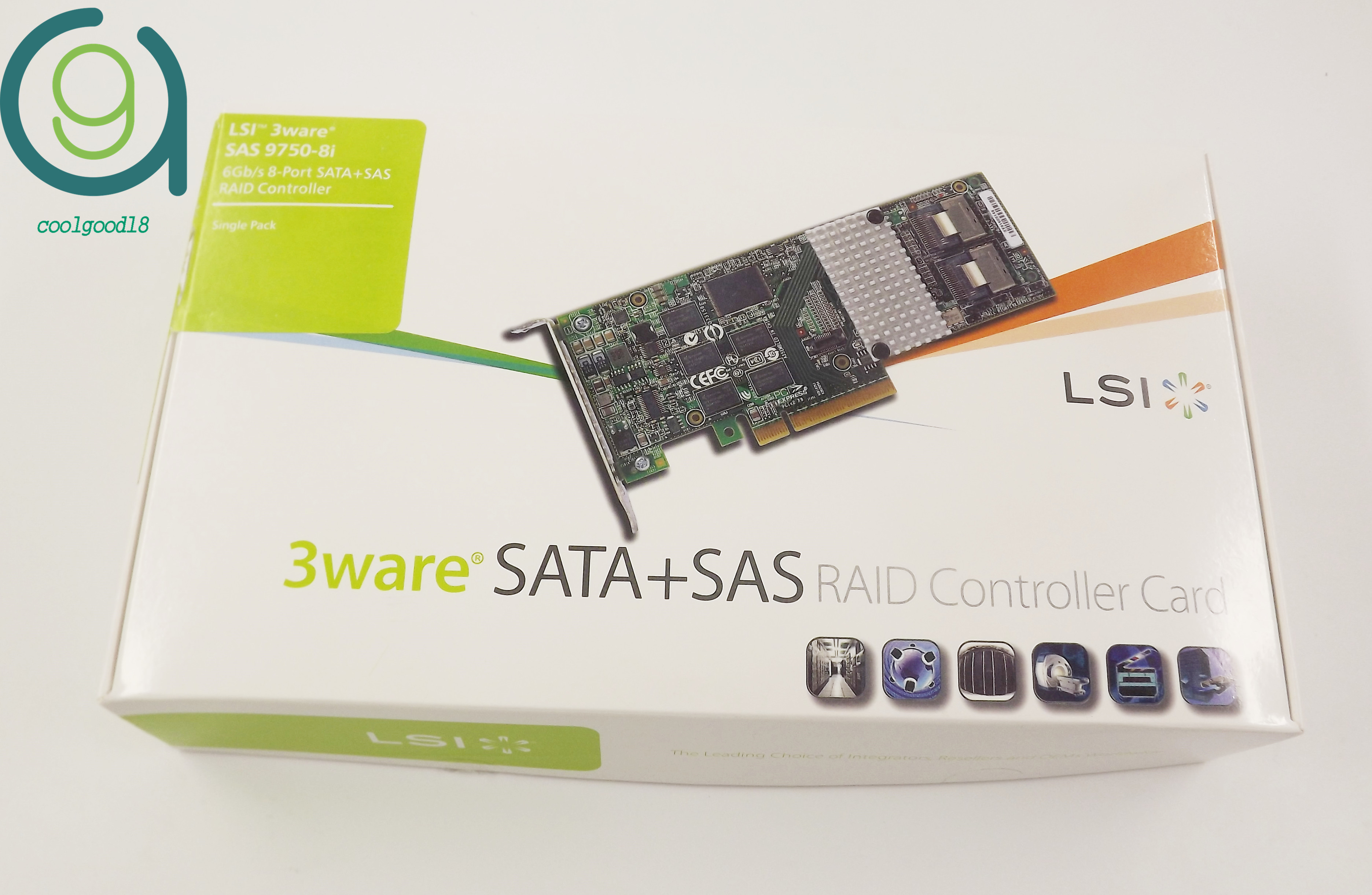 Details about 9750-8i 8-port PCI-E SAS For LSI LSI00213 RAID Controller Card