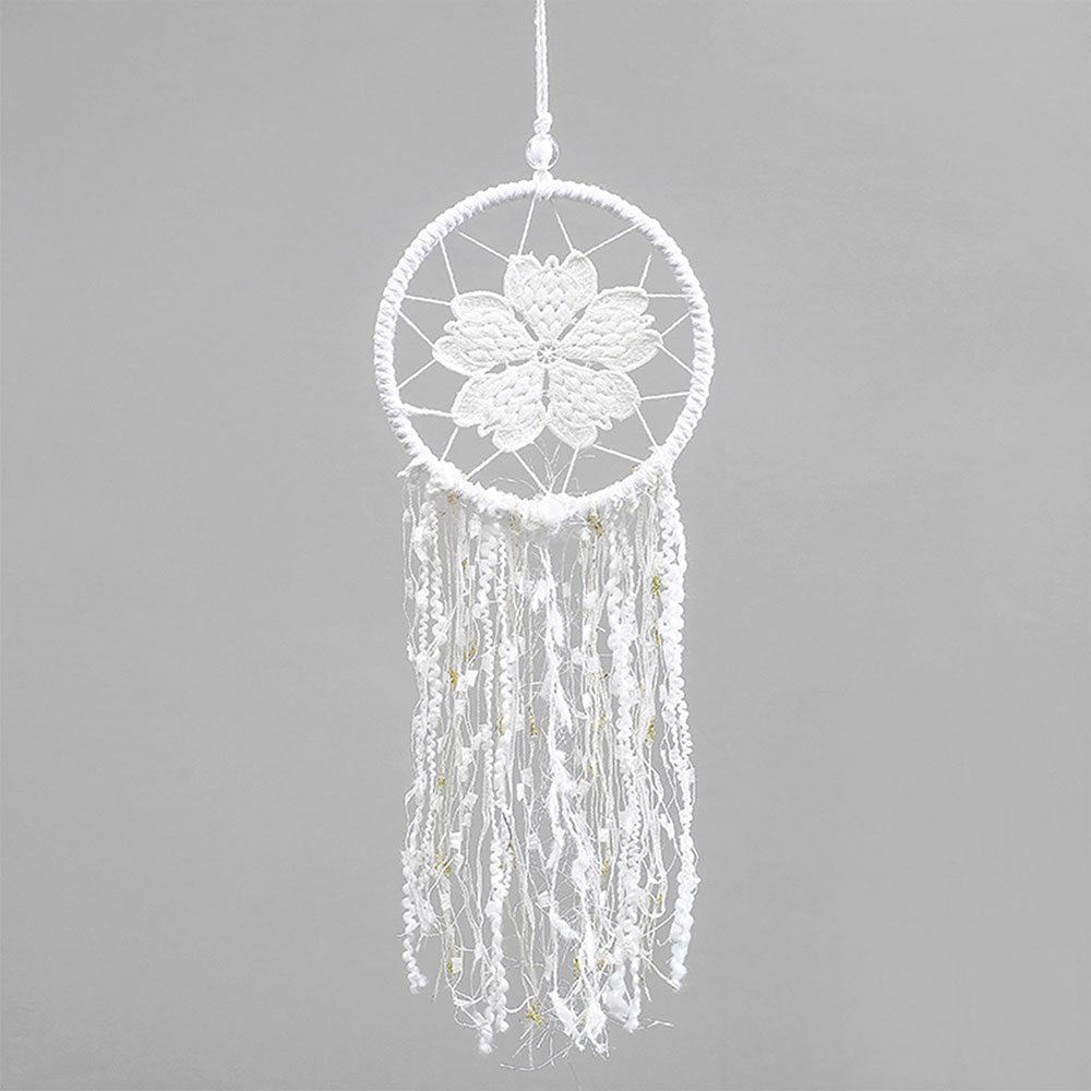 Dreamcatcher-Dream-Catcher-White-Pink-Colorful-Feather-Native-American-Indian thumbnail 24