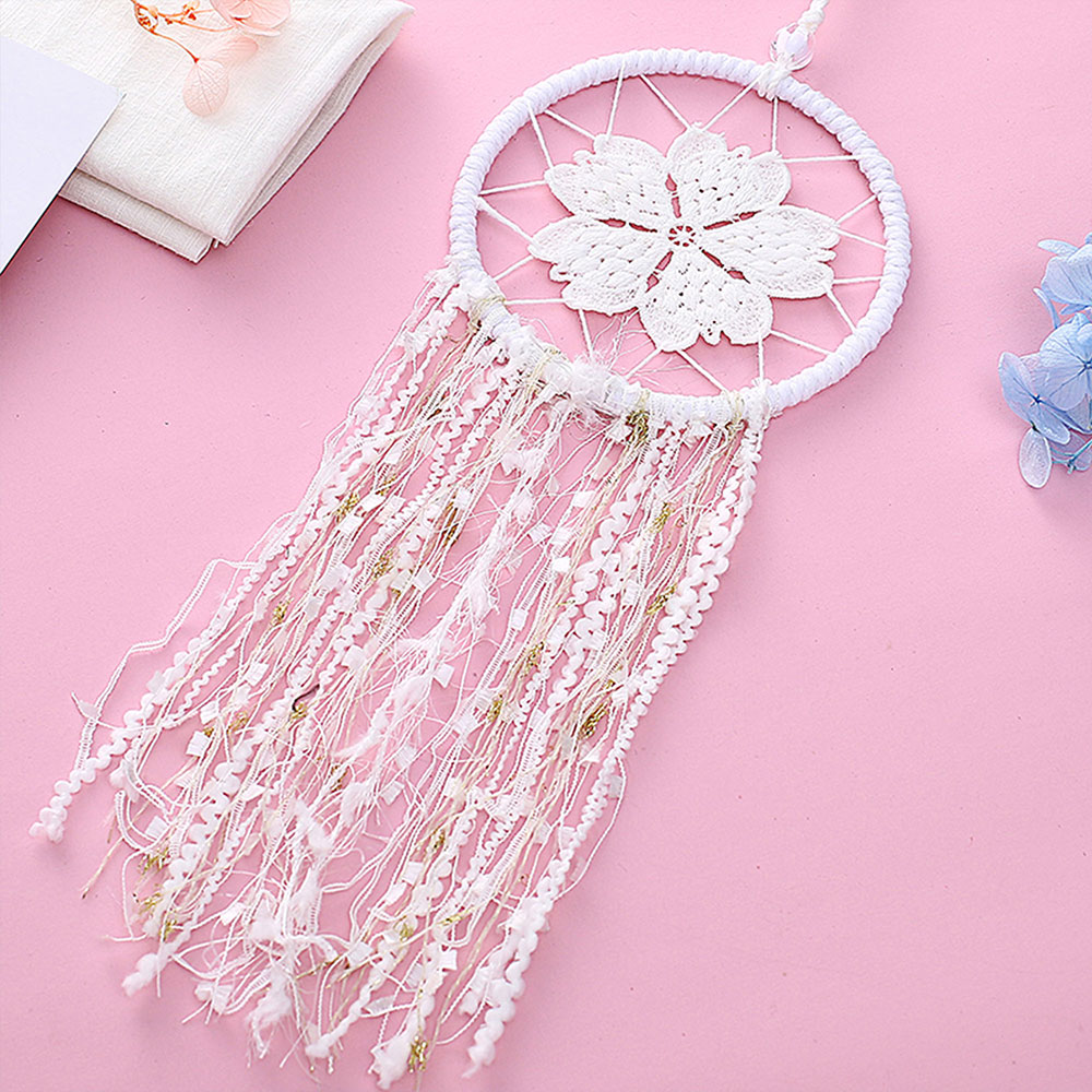 Dreamcatcher-Dream-Catcher-White-Pink-Colorful-Feather-Native-American-Indian thumbnail 25