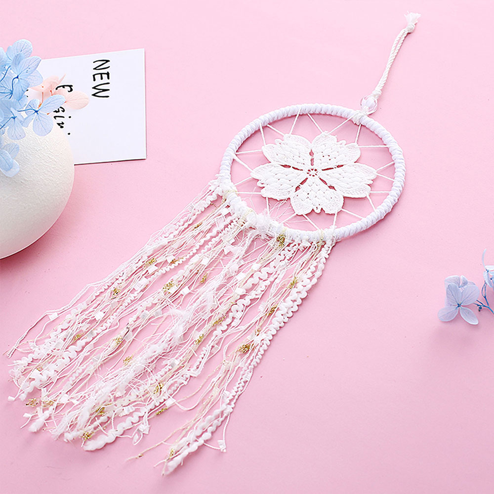 Dreamcatcher-Dream-Catcher-White-Pink-Colorful-Feather-Native-American-Indian thumbnail 28