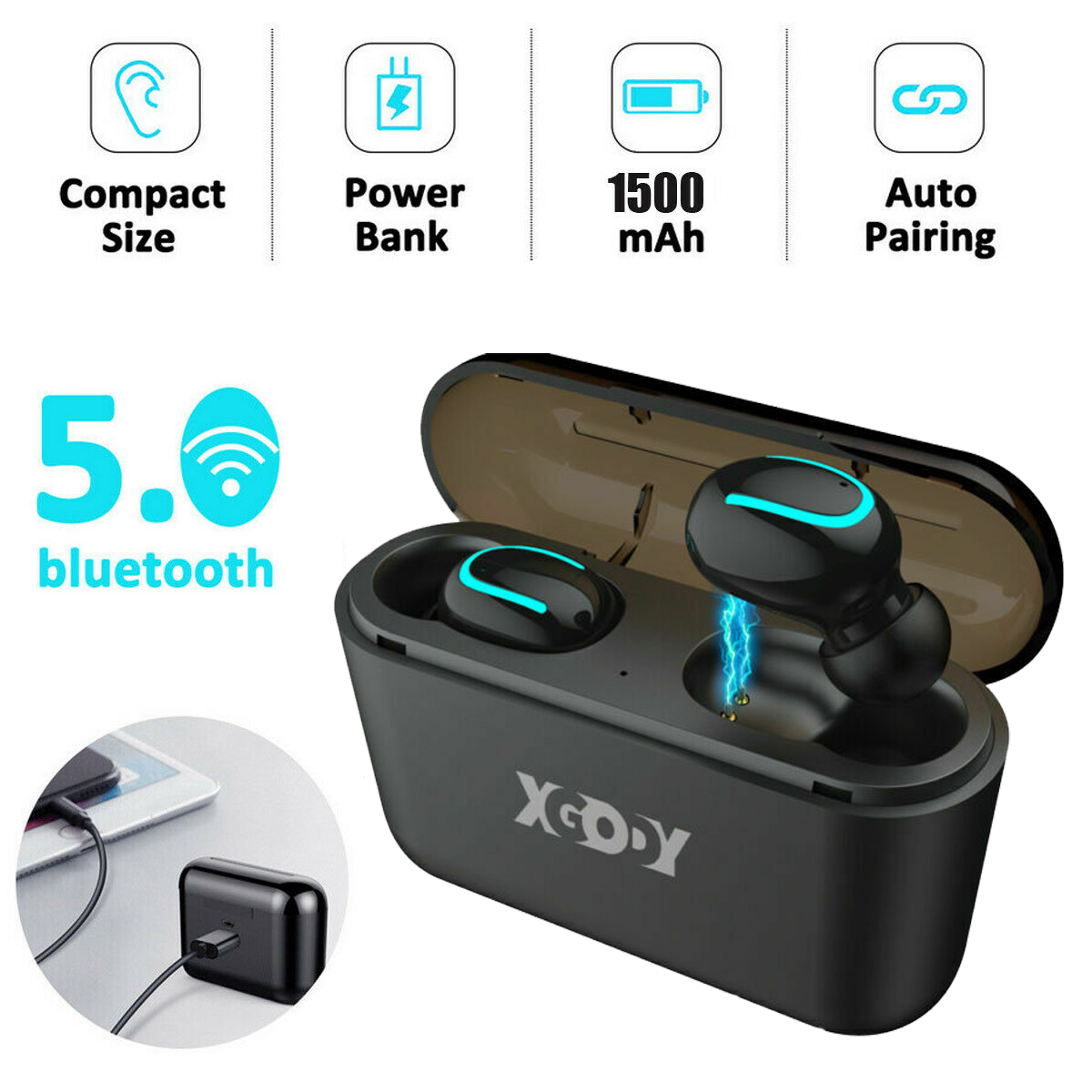 Q32 TWS Wireless Bluetooth Earpods Earphone Headphone Headse
