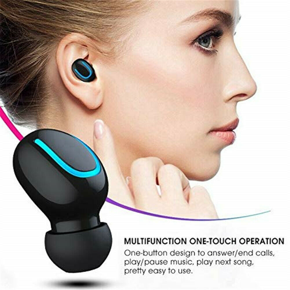 Waterproof Bluetooth Earbuds Headphone Wireless Headset Nois