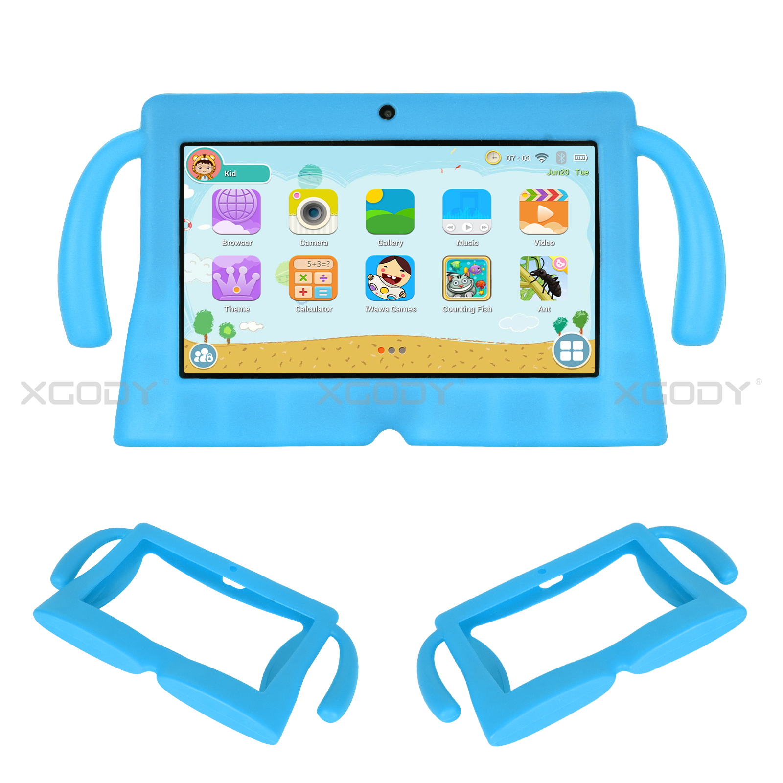 miniature 16 - Silicone Case Tablet Cover For Xgody 7 inch Tablet Waterproof Shockproof Cheap