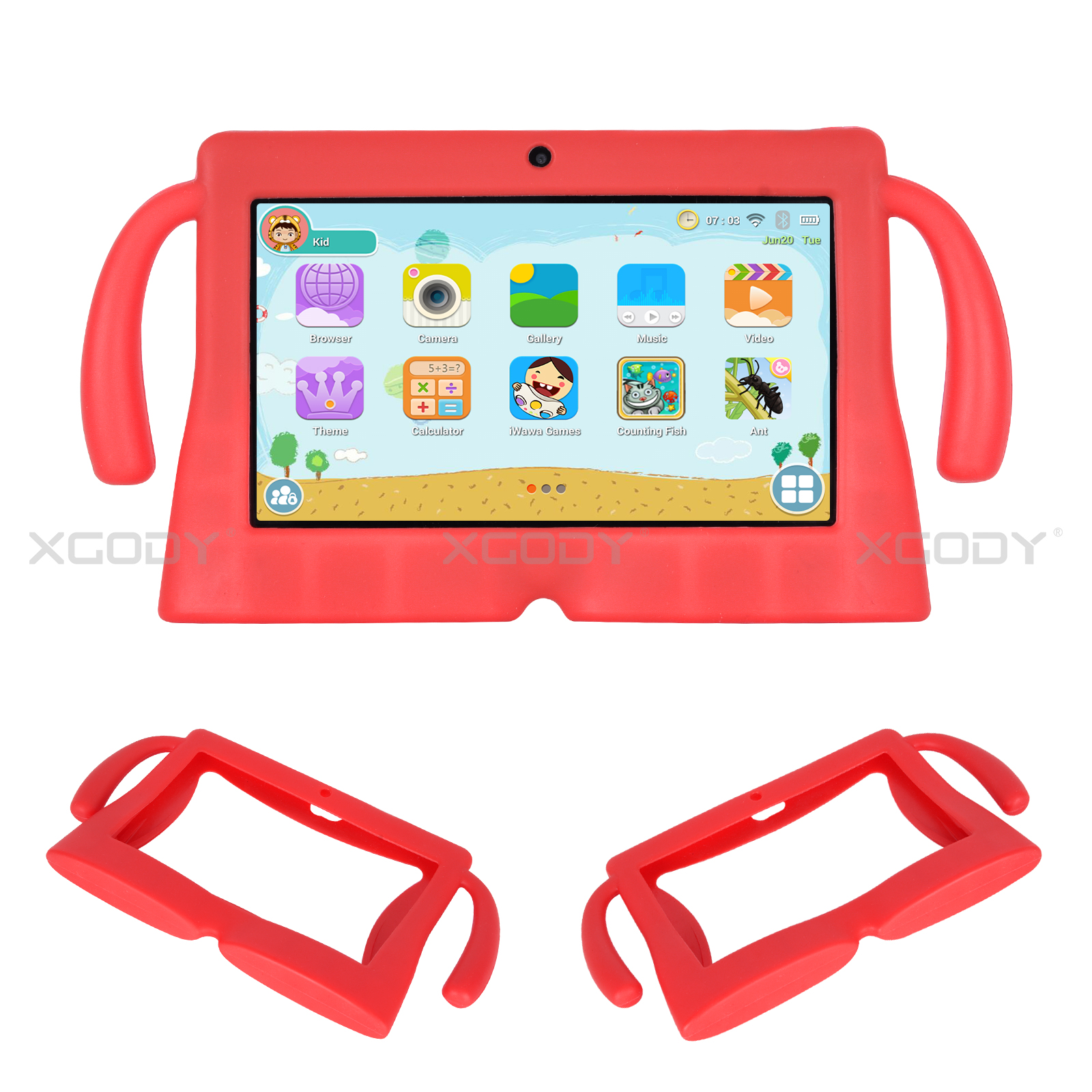 miniature 18 - Silicone Case Tablet Cover For Xgody 7 inch Tablet Waterproof Shockproof Cheap