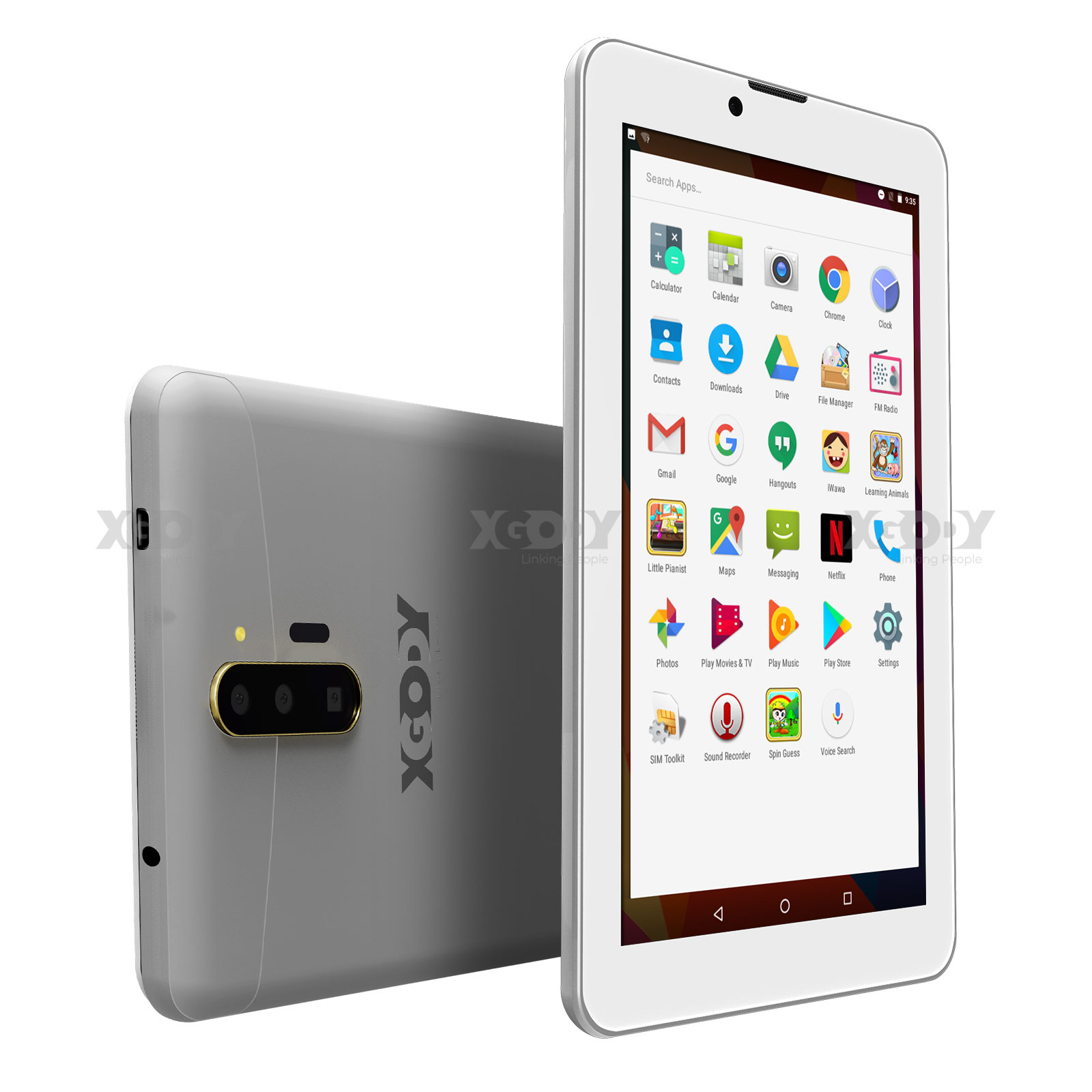 XGODY 7 Inch 3G Phone Android Tablet PC 1+16GB GPS WiFi Quad