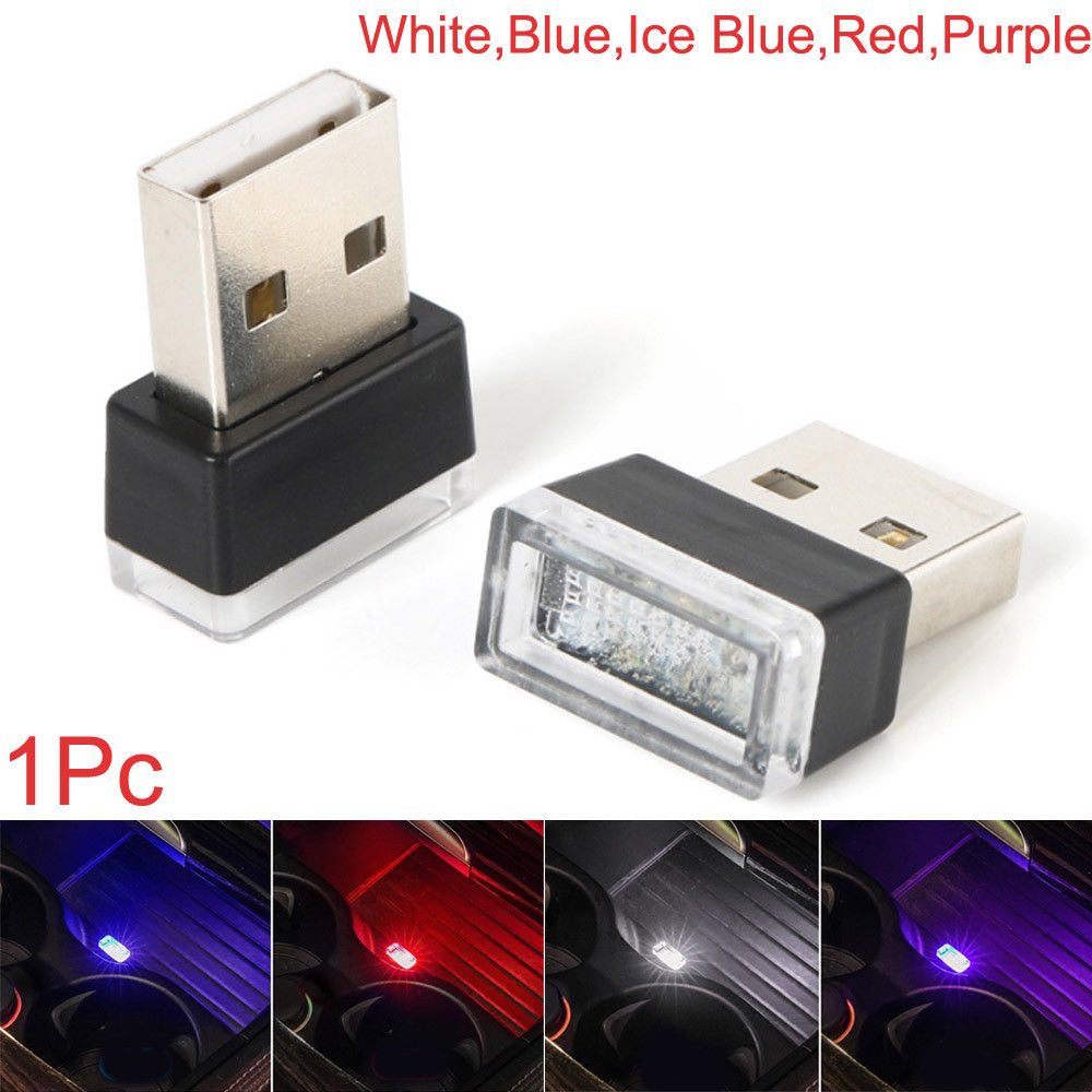 1Pc Mini USB LED Light Colorful Lamp For Car Atmosphere Lamp Bright Flexible
