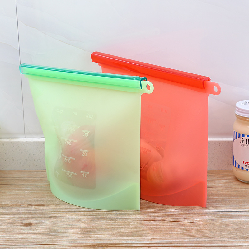 vacuum storage seal bag silicone reusable refrigerator freezer food preservation ebay. Black Bedroom Furniture Sets. Home Design Ideas