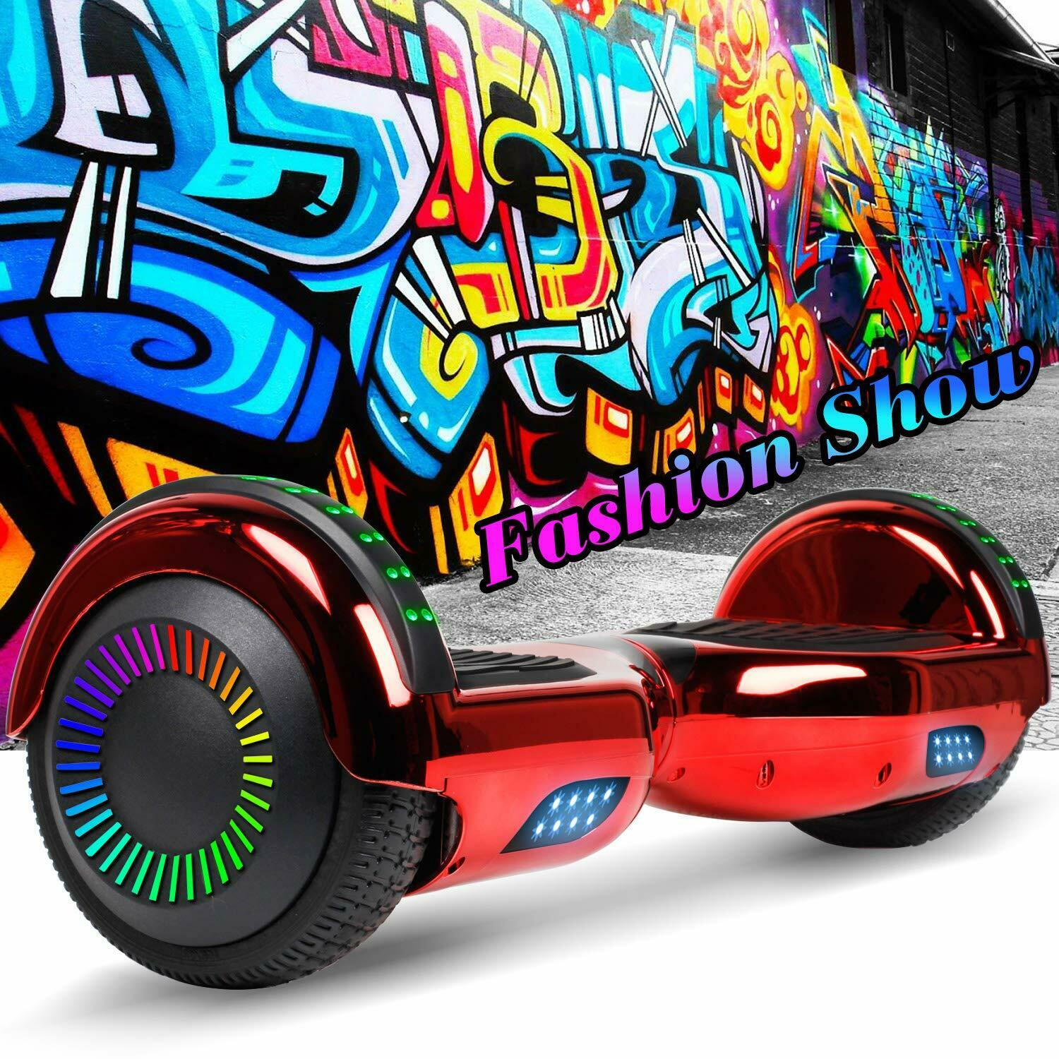 """6.5"""" Hoverboard Bluetooth HOVSCO Electric Balance Scooter with Bag Side LED 9"""