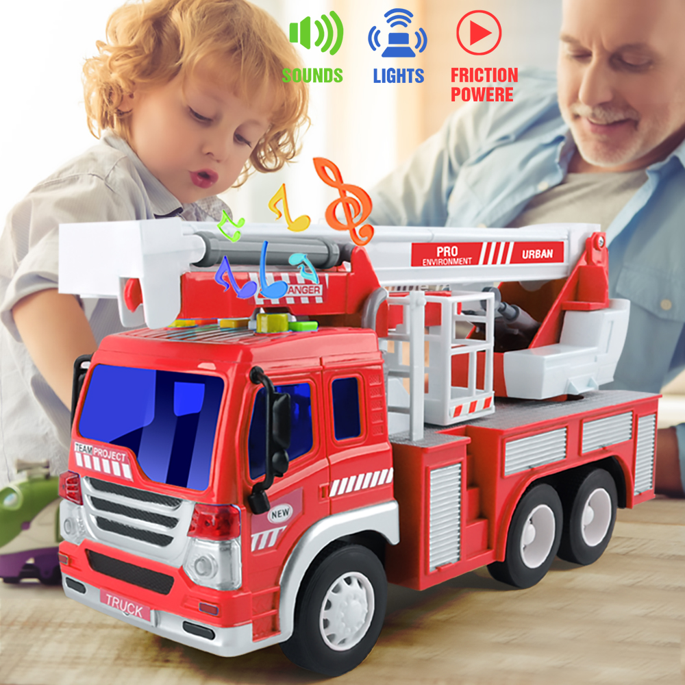 Fire Truck Toy With Lights And Sound Fire Rescue Vehicles