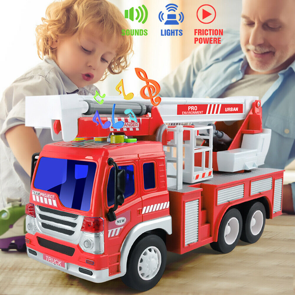 Childs Police Tow Truck Toy With Lights and Sounds