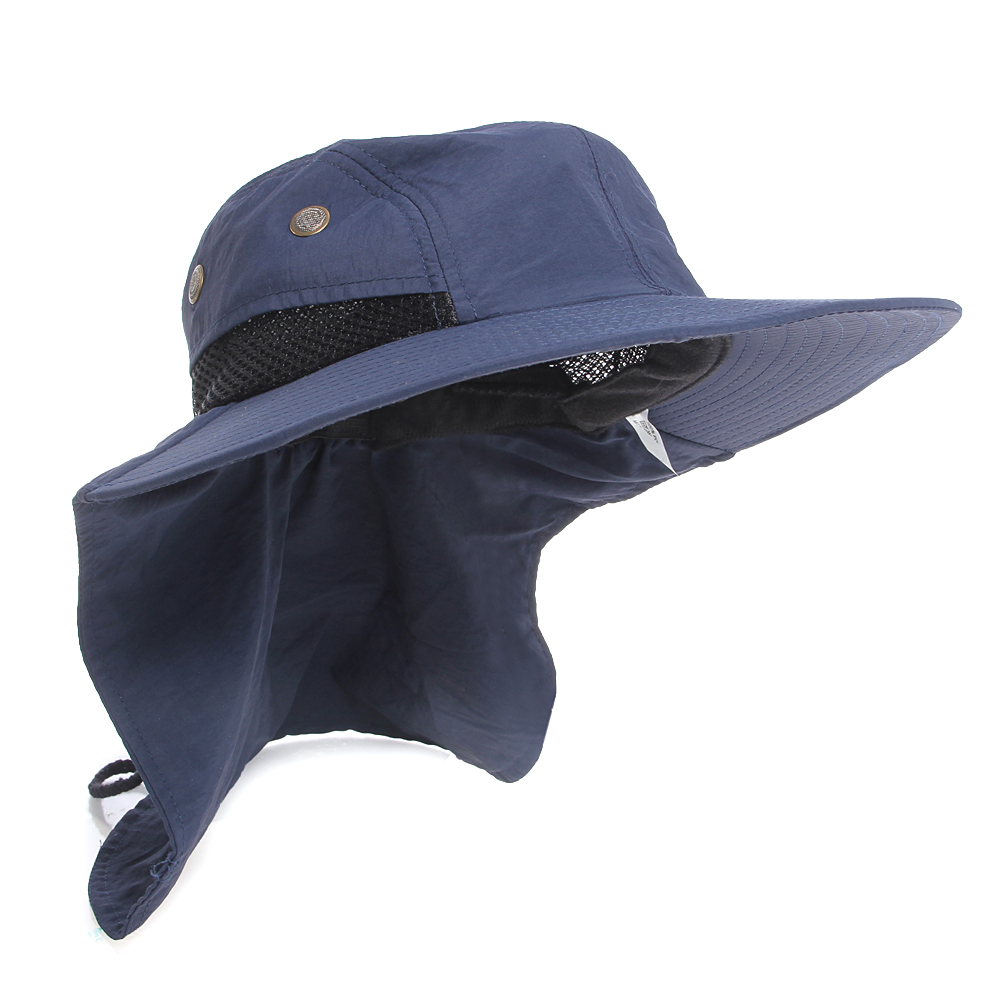 393ccb537f6 Boonie Fishing Boating Hiking Snap Hat Brim Ear Neck Cover Sun Flap Cap Hot