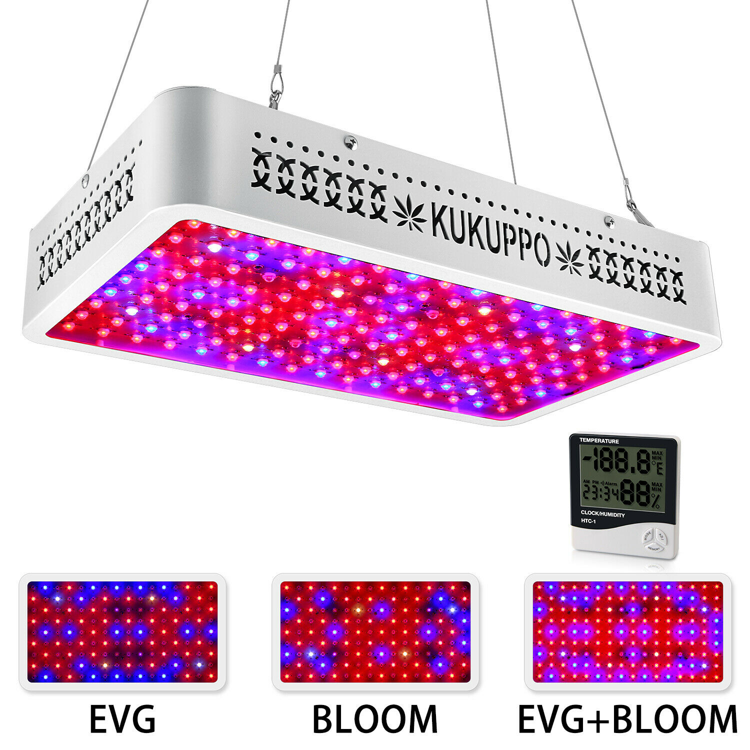 1500w Led Grow Light With Veg And Bloom Switch Led Full Spectrum Growing Plants Ebay