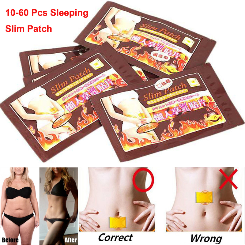10/100pcs slim magnetic slimming burn fat patch diet weight loss.
