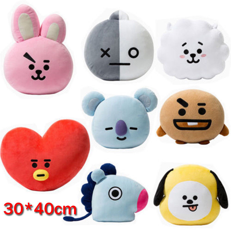 8a481350e83 BTS BT21 TATA SHOOKY RJ KOYA CHIMMY COOKY MANG Plush Toy Pillow Doll  Cushion New