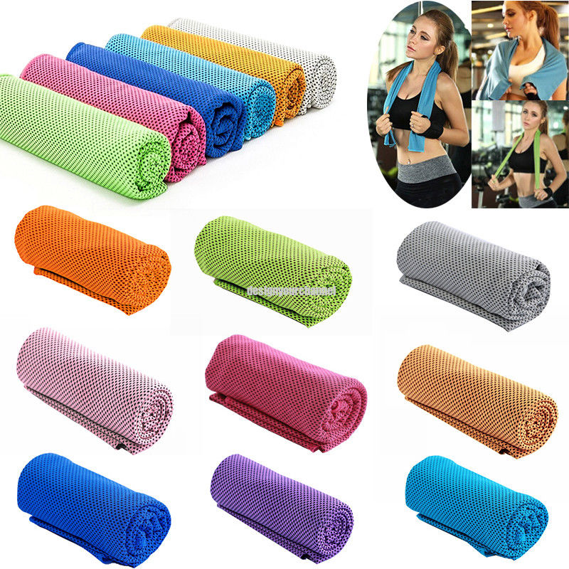 1x Absorbent Fitness Dry Cooling Sports Towel For Gym Exercise face Sweat Towels
