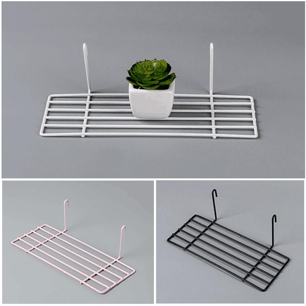 Home Garden Durable Iron Grid Storage Rack Shelf Portable Bonsai Book Organizer Ebay