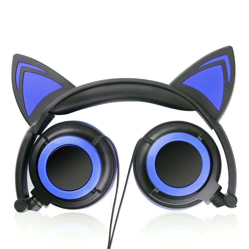 Wired-Headphones-Cat-Ear-Earphone-LED-Glowing-Light-Headset-For-iPhone-Samsung thumbnail 15