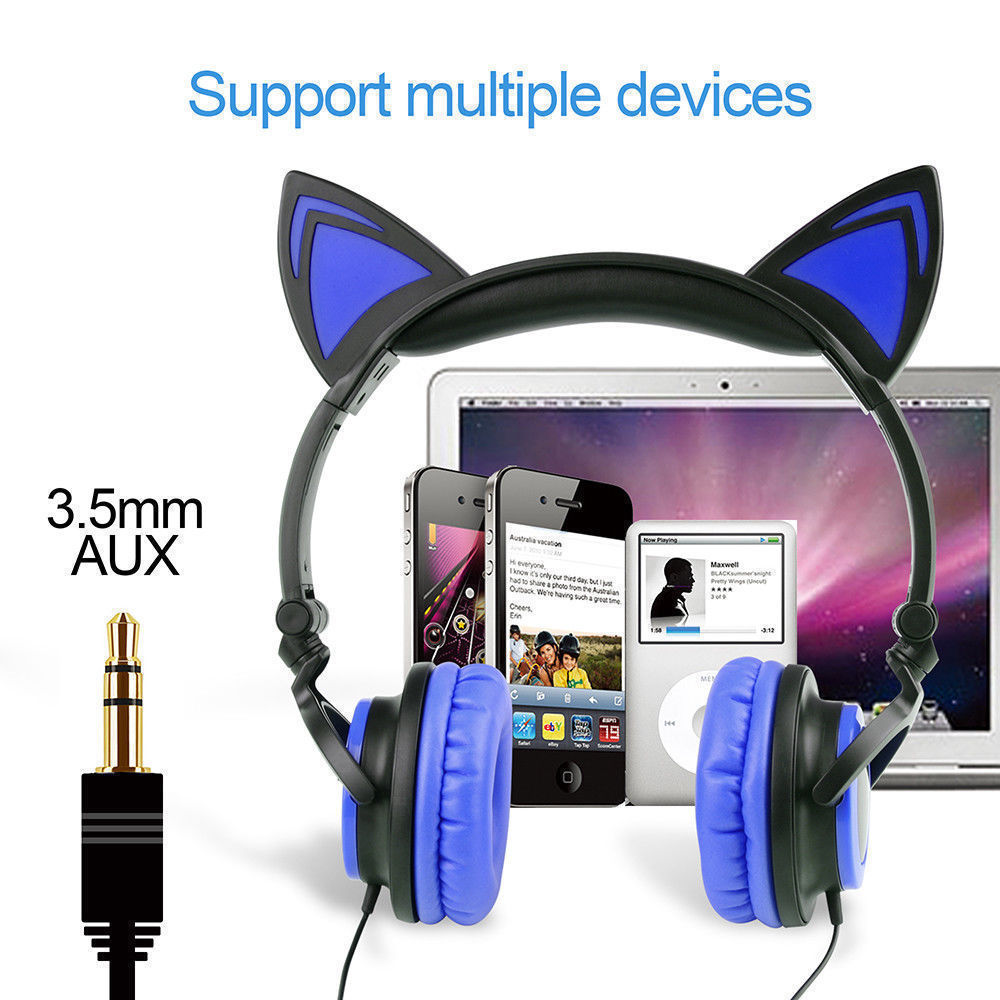Wired-Headphones-Cat-Ear-Earphone-LED-Glowing-Light-Headset-For-iPhone-Samsung thumbnail 16