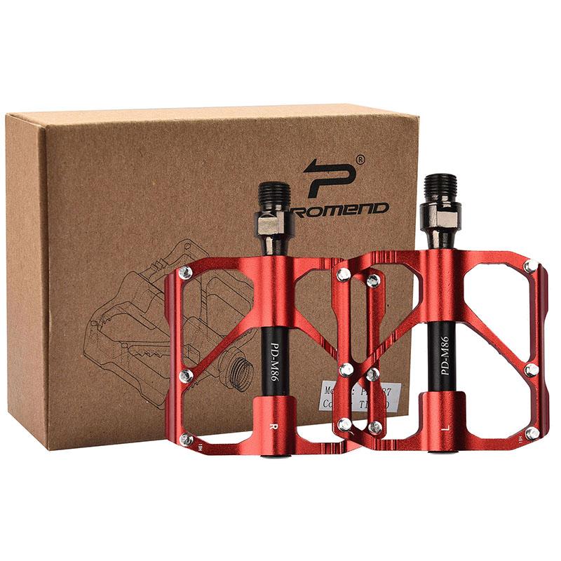 PROMEND-Sealed-Bearing-MTB-Road-Bike-Pedal-9-16-039-039-Flat-Aluminum-Bicycle-Pedals thumbnail 36