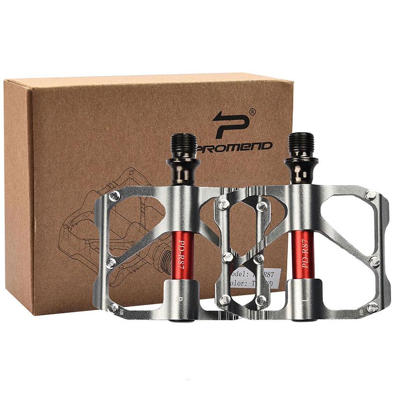 PROMEND-Sealed-Bearing-MTB-Road-Bike-Pedal-9-16-039-039-Flat-Aluminum-Bicycle-Pedals thumbnail 60